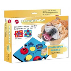 Spot Seek-A-Treat Flip 'N Slide Connector Puzzle Interactive Dog Treat and Toy Puzzle Image
