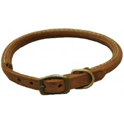 Circle T Rustic Leather Dog Collar Chocolate Image