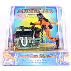 Penn Plax Action Air Treasure Diver Aquarium Ornament Image