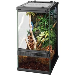 Zilla Front Opening Terrarium with Realistic Rock Foam Background 8