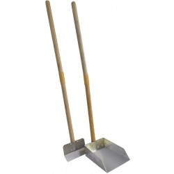 Flexrake Scoop and Steel Spade Set with Wood Handle - Small Image