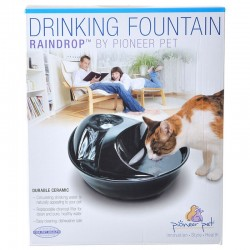 Pioneer Raindrop Ceramic Drinking Fountain - Black Image