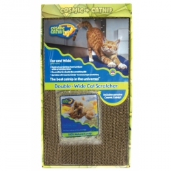 OurPets Cosmic Catnip Double Wide Cardboard Scratching Post Image