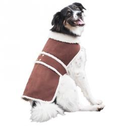 Outdoor Dog Shearling Dog Coat - Brown Image