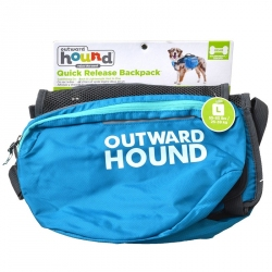 Outward Hound Quick Release Dog Backpack - Blue Image