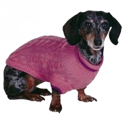 Fashion Pet Classic Cable Knit Dog Sweaters - Pink Image