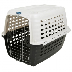 Petmate Compass Kennel - Metallic White & Black Image