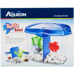 Aqueon Betta Bowl Starter Aquarium Kit - Blue Image