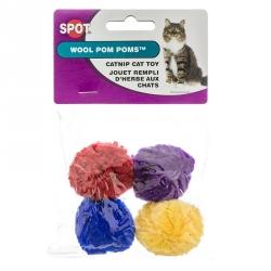 Spot Wool Pom Poms with Catnip Image