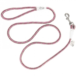 K9 Explorer Reflective Braided Rope Snap Leash - Rosebud Image