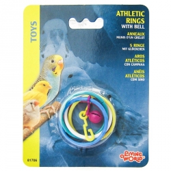 Living World Olympic Rings Plastic Bird Toy Image