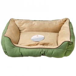 K&H Self-Warming Lounge Sleeper - Sage & Tan Image