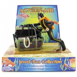 Penn Plax Action Air Treasure Diver Aquarium Ornament Image