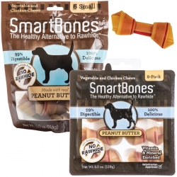 SmartBones Vegetable and Chicken Bones with Real Peanut Butter Image