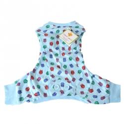 Lookin Good Owl Print Dog Pajamas - Blue Image