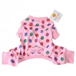 Lookin Good Owl Print Dog Pajamas - Pink Image