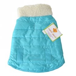 Lookin Good Reversible Puffy Dog Coat - Blue Image