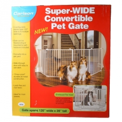 Carlson Super Wide Convertible Pet Gate Image