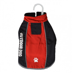 Fashion Pet Outdoor Dog All Weather Jacket - Red Image