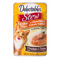 Hartz Delectables Stew Senior Cat Treats - Chicken & Tuna Image