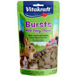 Vitakraft Bursts Treat for Rabbits, Guinea Pigs and Hamsters - Wild Berry Flavor Image