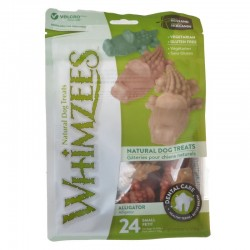 Whimzees Natural Dental Care Alligator Dog Treats Image