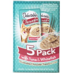 Hartz Delectables Chowder Lickable Treat With Tuna And Whitefish Image