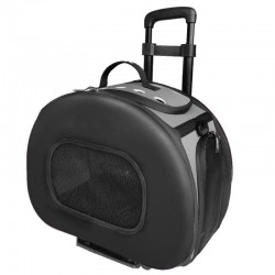 Pet Life Wheeled Tough-Shell Collapsible Pet Carrier - Black Image