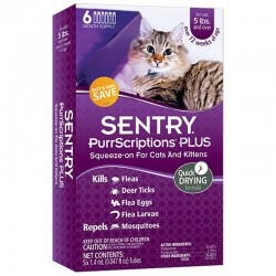 Sentry PurrScriptions Plus Squeeze-On Flea & Tick Control for Cats & Kittens Image