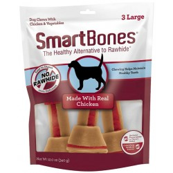 SmartBones Large Vegetable and ChickenBones Rawhide Free Dog Chew Image