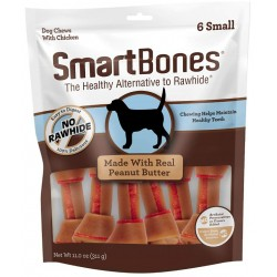 SmartBones Small Chicken and Peanut Butter Bones Rawhide Free Dog Chew Image