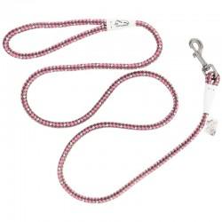 K9 Explorer Reflective Braided Rope Snap Leash - Rosebud Image