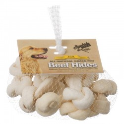 Rawhide Brand Eco Friendly Beef Hide Safety-Knot Bones - Natural Image