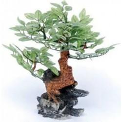 Penn Plax Bonsai Tree on Rock Aquarium Ornament Image