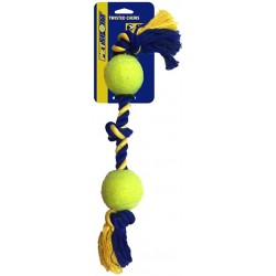 Petsport Medium 3-Knot Cotton Rope with 2 Tuff Balls Image