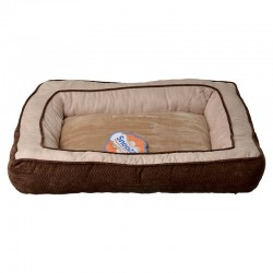 Precision Pet Snoozzy Chevron Chenille Gusset Dog Bed - Chocolate Image