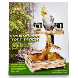 Penn Plax Bird Life Natural Wood Tree Perch Image