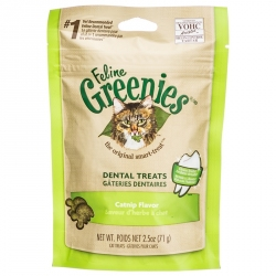 Feline Greenies Dental Treats for Cats - Catnip Flavor Image