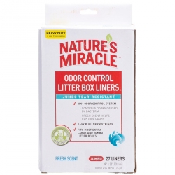 Nature's Miracle Jumbo Odor Control Litter Box Liners Image