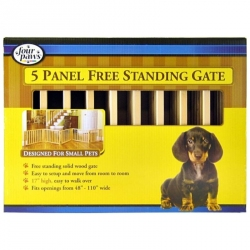 Four Paws 5 Panel Free Standing Gate for Small Pets Image