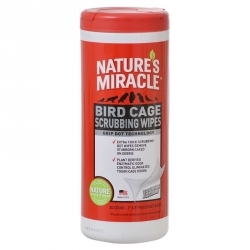 Nature's Miracle Bird Cage Scrubbing Wipes Image