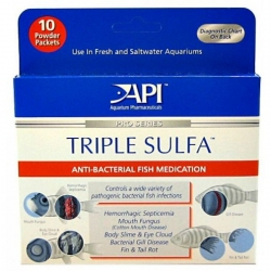 API Pro Series Triple Sulfa Anti-Bacterial Fish Medication Powder Image