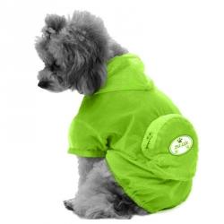 Pet Life Thunder-Paw Waterproof Travel Dog Raincoat - Yellow Image