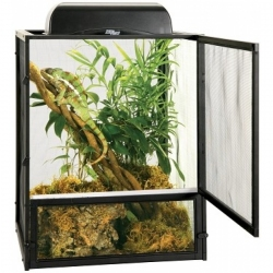 Zoo Med ReptiBreeze Open Air Black Aluminum Screen Cage Image