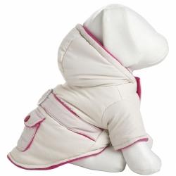 Pet Life Tan & Pink Parka with Hood Image