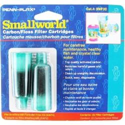 Penn Plax Smallworld Fishbowl Filter Kit Carbon / Floss Filter Cartridges Image