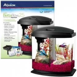 Aqueon LED Betta Bow Desktop Aquarium Kit - Black Image