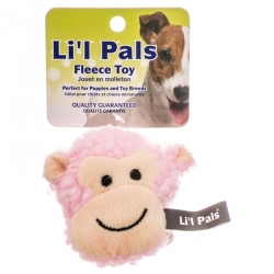 Lil Pals Fleece Monkey Dog Toy Image