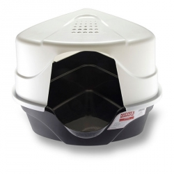 Nature's Miracle Advanced Corner Hooded Litter Box Image