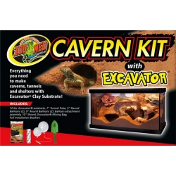 Zoo Med Cavern Kit with Excavator Clay Substrate Image